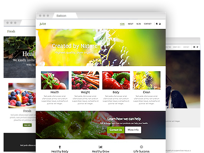 An assortment of creative site designs